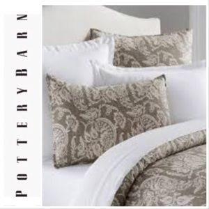 PB Alessandra Scroll Percale Gray Pillow Shams (2)